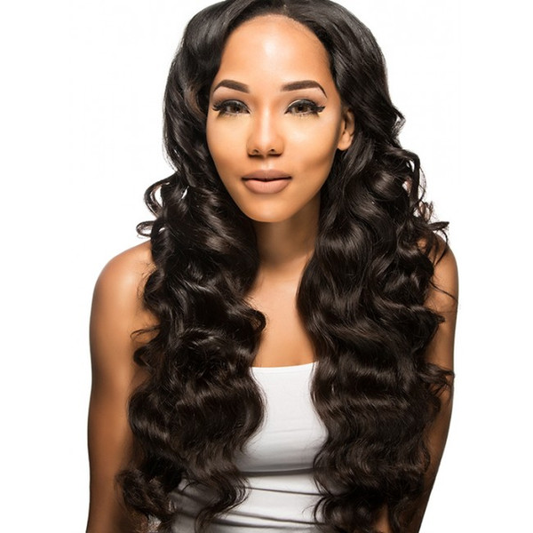 Chinese Supplier 100 virgin human hair extensions wholesale unprocessed Brazilian body wave weave closures and bundles