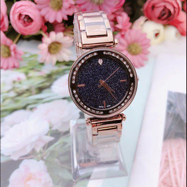 2019 top hot luxury ladies watch diamond star ladies watch quartz movement free shipping