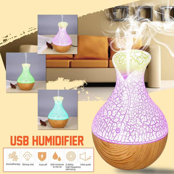 130ml Mini Air Lampe Humidificateur Ultrasons Diffuseur de parfum Aroma USB Diffuseur d'huile essentielle Humidificateur Aromatherapy Pour le bureau de voiture à la maison
