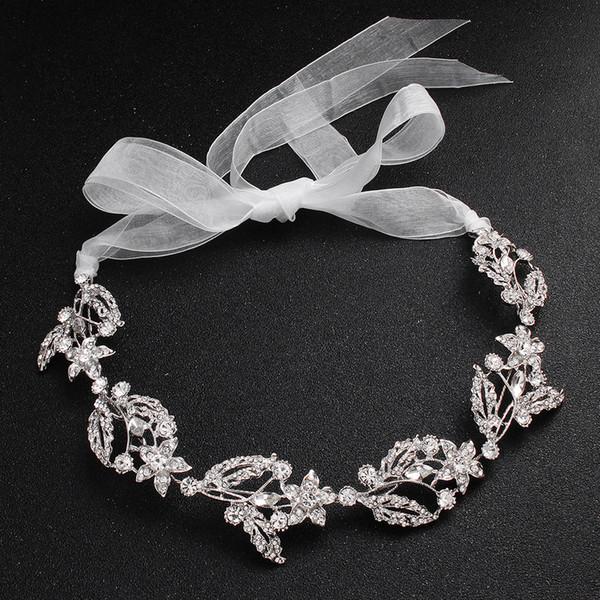 Gros Hot diamant mariée soft chain robe de mariée accessoires banquet cheveux accessoires chapellerie de mariée accessoire de mode