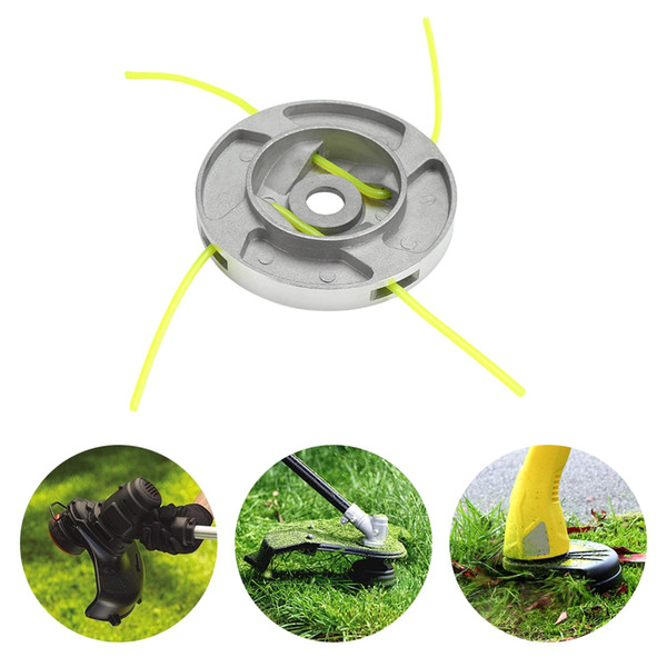 Aluminum Alloy Grass Trimmer Head with 4 Mowing Lines Lawn Mower Accessories