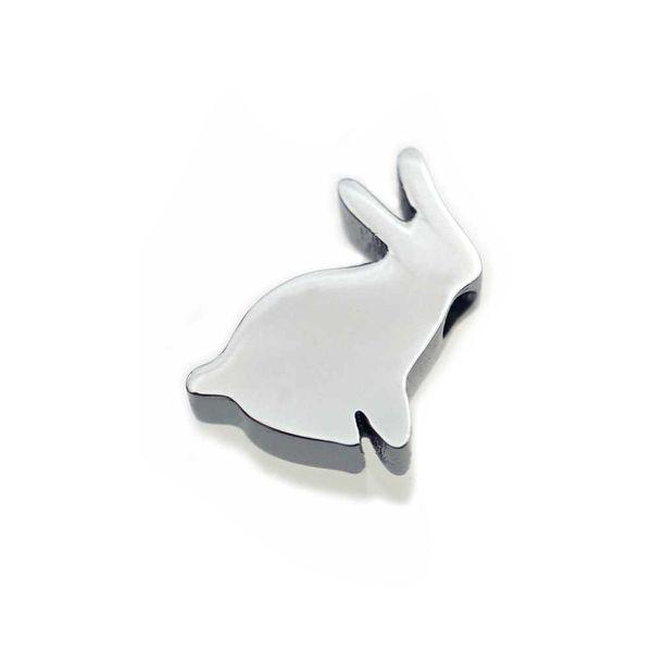 Pendant ARPSS164-steel New 316L tiny rabbit pendant (NO CHAIN) unisex daily wear prefect gift couple jewelry