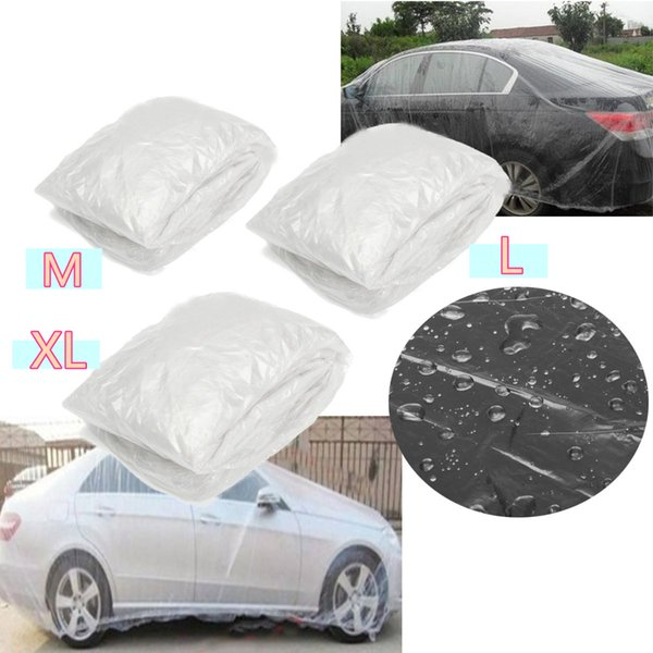 top popular Car Disposable Car Cover Waterproof Dustproof Transparent Rain Covers For MPV SUV Sedan 2020