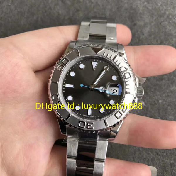 Buceo deportivo Relojes para hombre Cal.3135 Reloj Automático Diámetro de Acero Inoxidable 40mm Dial Gris Reloj de Lujo de Calidad Superior Para Hombre