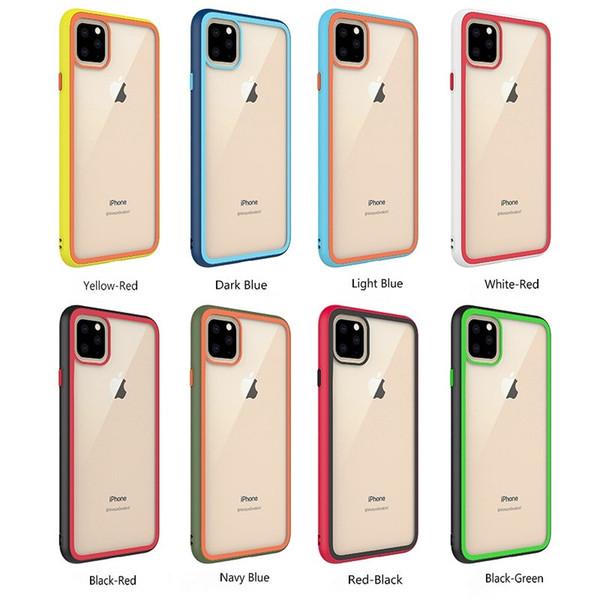 Arcobaleno caso della pagina del telefono di vetro libero trasparente posteriore di caso TPU per iPhone 11 Pro Max XR XS Max 8 7 Plus 6G