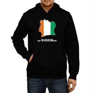 Cote D 039 Ivoire Country Map Color Hoodie Sweatshirt