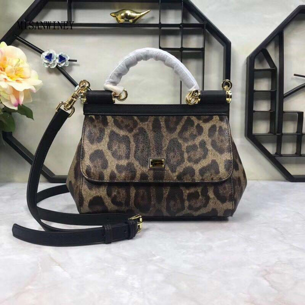 Lady Leopard Twisted Bag Fashion Classic Printed Bag Handbag Autumn and Winter New Style