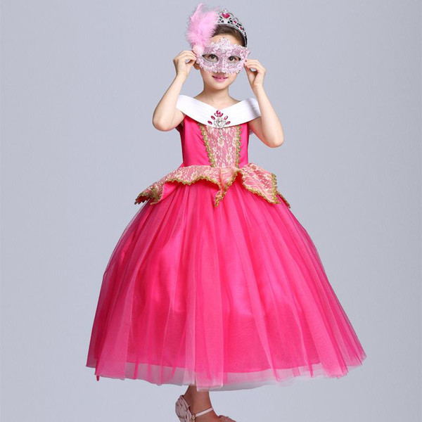 NOVITÀ Beauty Diamond Aurora Princess Dress Belle Party Stage Dress Halloween XMAS Costume Cosplay Garza Abbigliamento B112