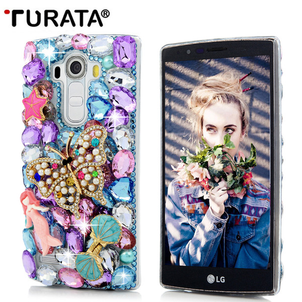 3D Bling Diamond Handmade Glitter Crystal Case Coque For LG G4 G5 K10 Hard Clear Protective Back Cover Fundas For LG V20 T35
