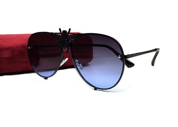 occhiali da aviatore di corno di bufalo di alta qualità Bee Aviators SONO SEMPRE RICCO PER SEMI OCCHIALI DA SOLE Black Classic 0520S