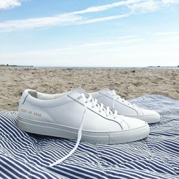 Общие проекты женщин черный белый низкий топ обувь мужчины женщины натуральная кожа Повседневная обувь квартиры Chaussure Femme Homme z070