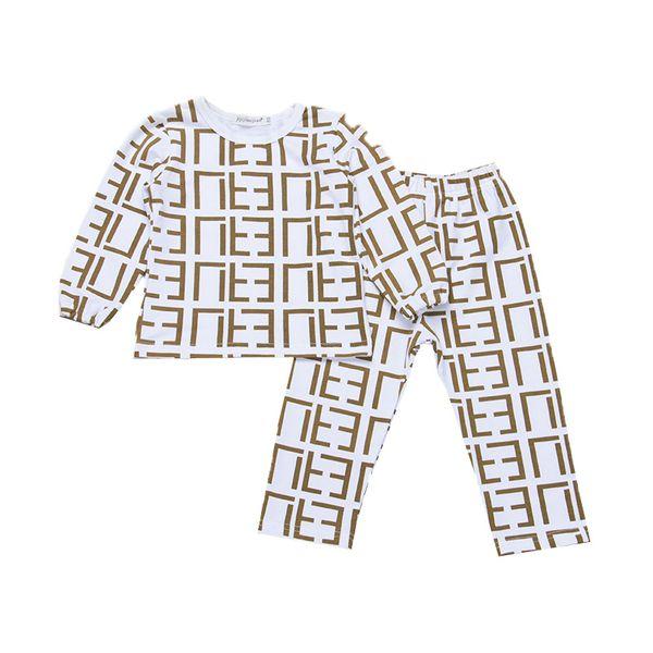 ropa de diseñador para niños niñas niños trajes de letras top para niños + pantalones 2pcs / set 2019 Primavera Otoño Boutique Baby pyjamas Conjuntos de ropa C607