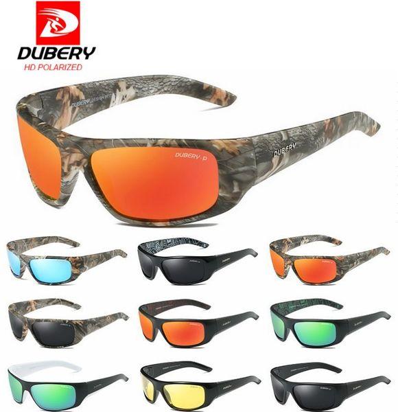 DUBERY Design Men's Glasses Polarized Night Vision Sunglasses Men's Retro Male Sun Glass For Men UV400 Shades D1418 free shipping