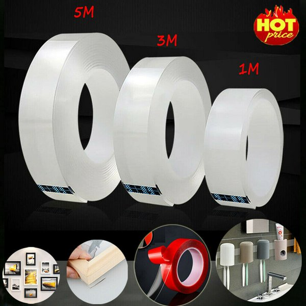 best selling Multifunctional Double-Sided Adhesive Nano Tape Traceless Washable Removable Tapes Indoor Outdoor Gel Grip Sticker Home Tool 1M