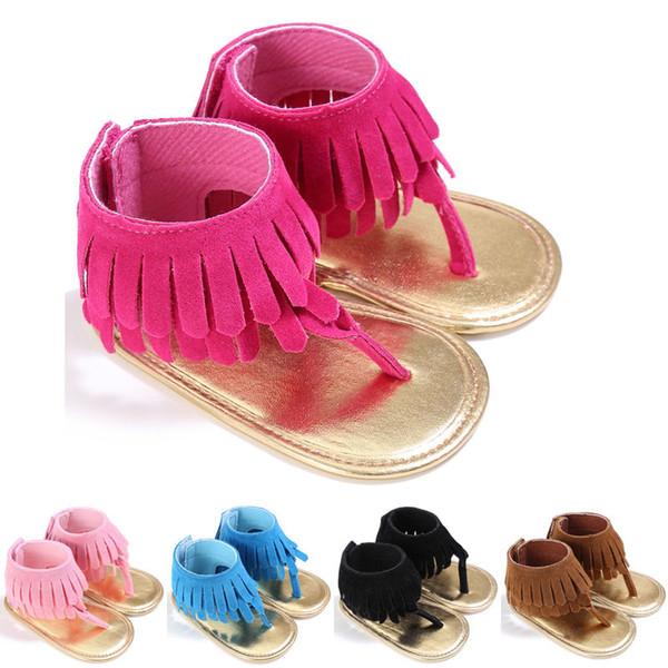 2019 HOT SALE Summer Toddler Infant Baby Girls Kids Tassel Sandals Tassel Princess Crib Shoes Soft Sole Prewalkers