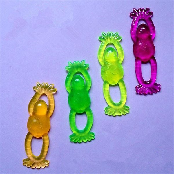 Stress Relief Toys Sticky Stretchy Party Favor Novelty Toys Colorful Slingshot Flying Frogs Funny Toys Kid Gift DHL
