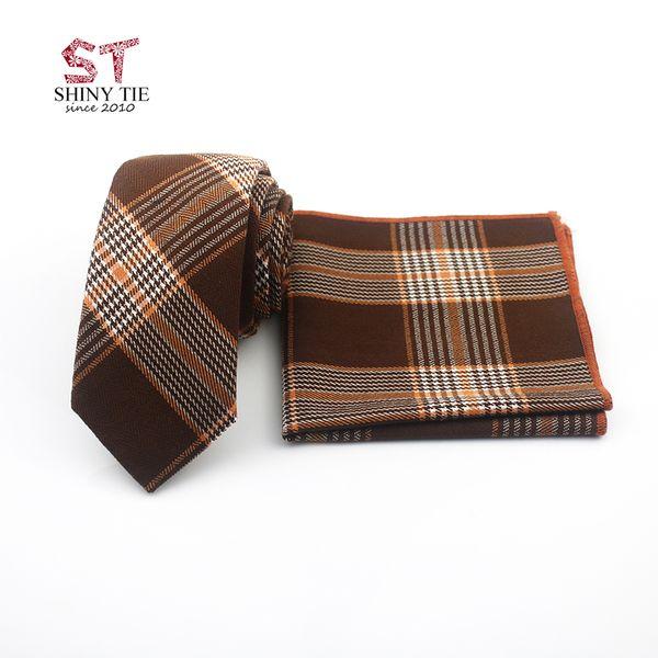 2018 New Arrival Cotton Wool Neck Tie Set 6CM Striped Bow Tie Plaid Soft Small Ties Suit Pocket Square Cravat Dress Hanky 24*24