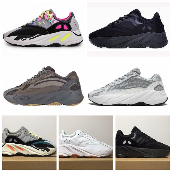 MujerHombre Adidas Yeezy Boost 700 Wave Runner Solid Gris