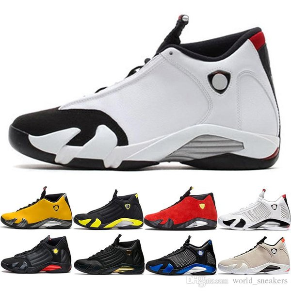 14 Candy Cane Men Basketball Shoes 14s The Last Shot Desert Sand Black Toe Mens Trainer Athletic Sports Sneakers Size 8-13