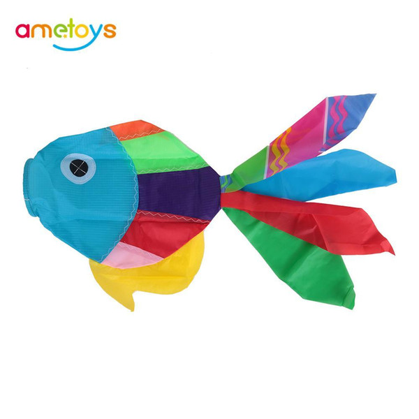New 70cm Length Multicolor 3D Kites Cute Fish-type Fly Tail Kite Tails Kite Accessory Easy Control Flying for Outdoor Fun
