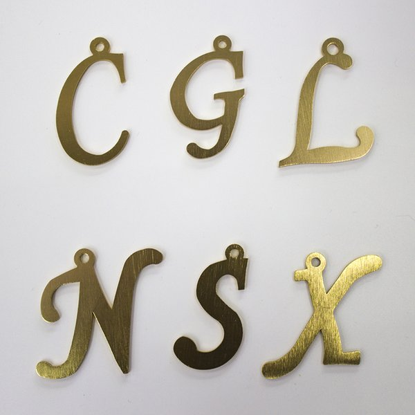 Aluminum Oxided Gold Color Letters Necklace Earring Pendants Connectors Decorative Accessories Jewelry Findings & Components Wholesale