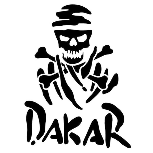 Hot sale fun dakar rally racing Skull car sticker ca-452