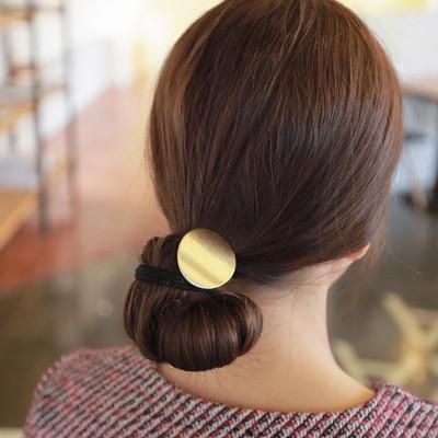 circle hair 2017 Fashion Simple Personality Alloy Round Circle Hair Band Cuff Wrap For Ponytail Holder Elastic Punk Metal Ornaments Ties