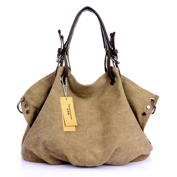 Lienzo de las mujeres Bolsas de Mensajero Femenino Crossbody Bolsas Sólido Bolso de Hombro Diseñador de Moda Bolso Femenino de Gran Capacidad Tote # 34138