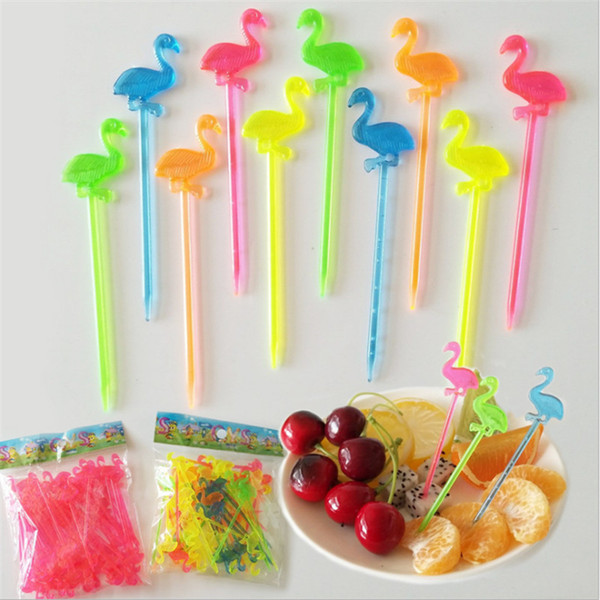 Flamingo Party Flamingo Plastic Forks Fruit Forks For Birthday Party  Decorations Kids Baby Shower Hawaii Party Supplies S The Party Stuff The  Party