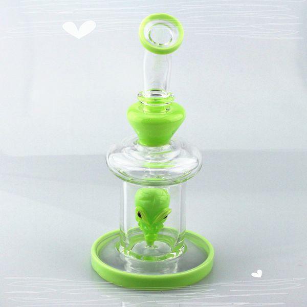 Skeleton Design 8 inches Glass Bong Water Pipe Hookah Smoking Pipe Percolator Beaker with glass bowl quartz banger