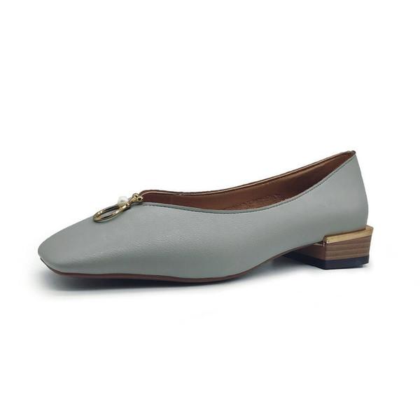 Designer Dress Shoes 2019 New Women Crystal & Metal Pumps 2.5cm Low Heels Elegant Woman Spring Ladies Charming and Leisure Pearl Footwear
