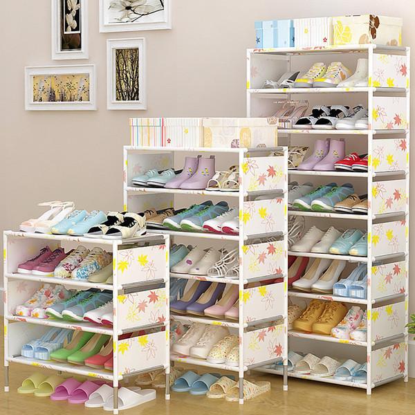 Portable 5/7/9 Tier Shoes Rack Stand Hallway Organizer Holder Door Shoe Storage Cabinet Shelf Diy Home Furniture Q190605