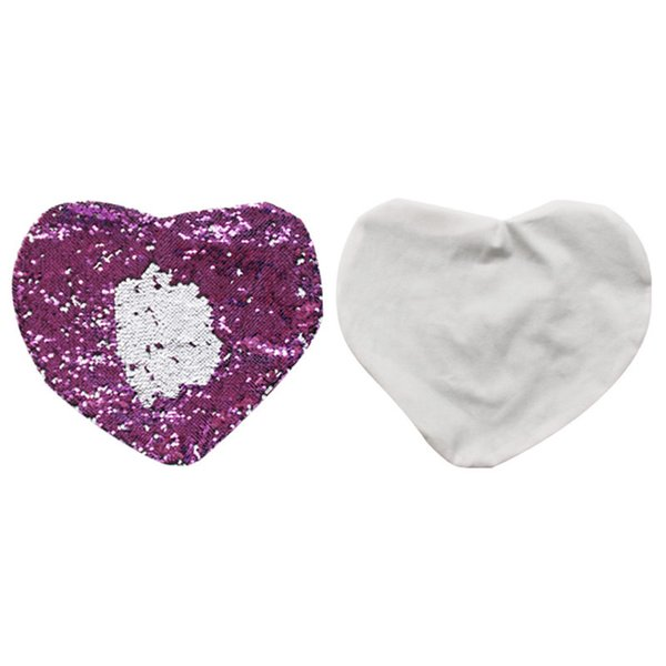 sublimation magic sequins blank heart shape pillow case pure hot transfer printing DIY personalized customized gifts wholesales 46*42CM