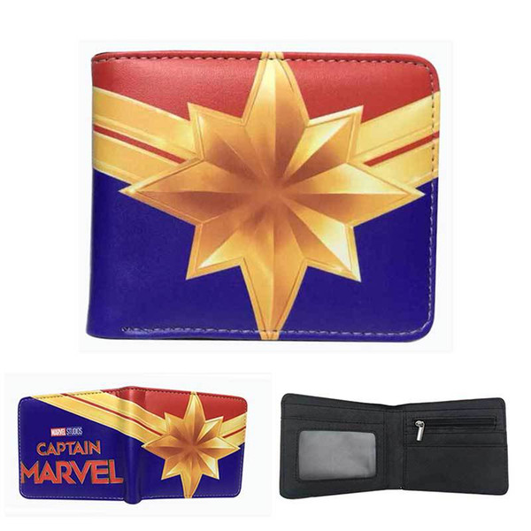 Boys Girls Captain Marvel wallet 3D print Avengers 4 Superhero Cartoon PU wallet bags Coin bag purse AAA1944