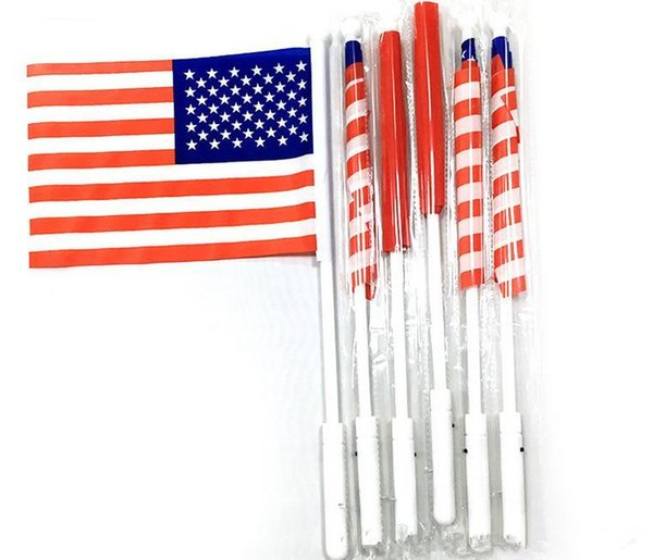 500PCS American Hand LED Flag 4th of July Independence Day USA Banner Flags LED Flag Party Supplies
