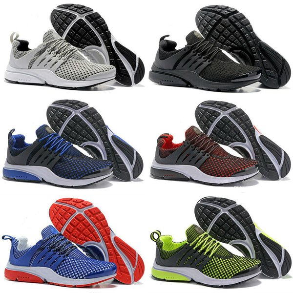 Presto Blackout Mens Running Shoes Classic White Black Blue Red Outdoor Shoes Presto Men Sport Sneaker Size US 7-11 drop shipping
