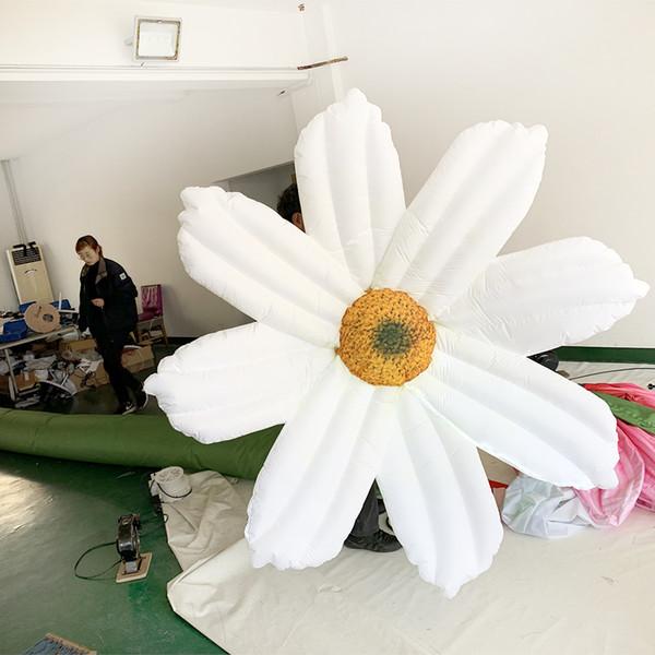 Partie blanche gonflable accrochante accrochant la partie d'exposition de fleur blanche et gonflable extérieur