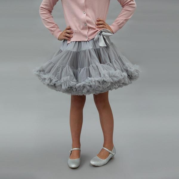 Baby Girl Tutu Dress Bow Soft Princess Princess Dress Designer Girl Gonna tinta unita Gonna a trapezio 48