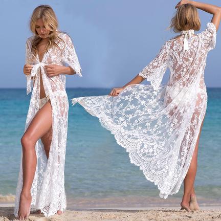 rendas cardigan à beira-mar férias vestido de praia casaco é impedido aquecer em roupas de praia blusa de biquíni superior sem forro