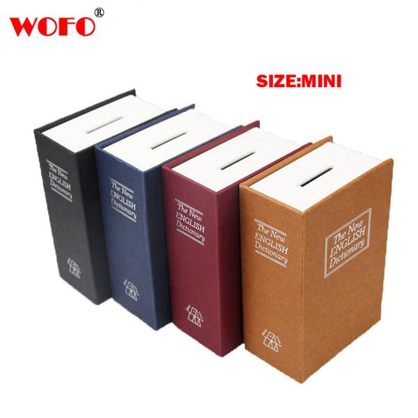 WOFO Metal Mini Cash Secure Hidden English Dictionary Money Box Coin Storage Books Safe Secret Piggy Bank 11.5*8*4.5CM C18122201
