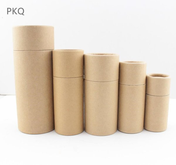 50pc 10/20/30/50/100ml Oil bottle packaging box kraft paper tube packing box dropper bottle round cardboard Lipstick Perfume box