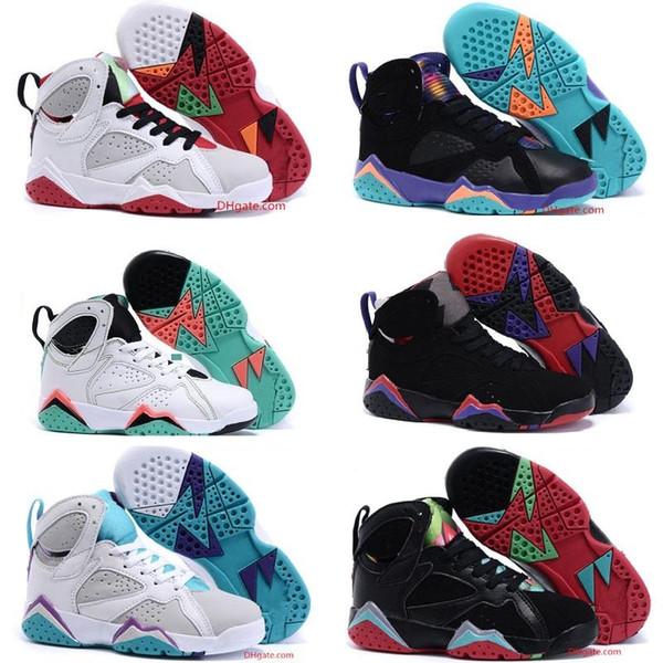 Sıcak Satış Çocuklar Için 4,6,11 Bebek Ayakkabıları Çocuk Basketbol Ayakkabı Erkek Kız Çocuk Babys Spor JD 7 s Sneakers Max Boyutu 35