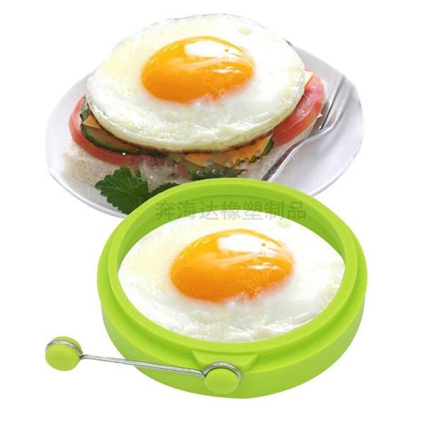 100 pcs Novo Criativo Forma Redonda Molde de Omelete de Silicone para Ovos Fritar Panqueca Molde de Café da Manhã Essencial wa3657 20180920 #