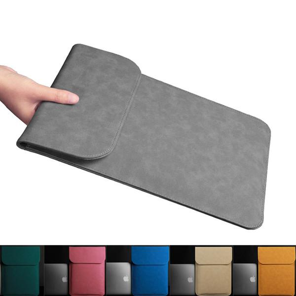Sacoche pour ordinateur portable en cuir PU ultra-mince pour Macbook Air Pro Retina 11 12 13 15 pouces Sac de doublure pour MacBook A1706 A1707 A1708