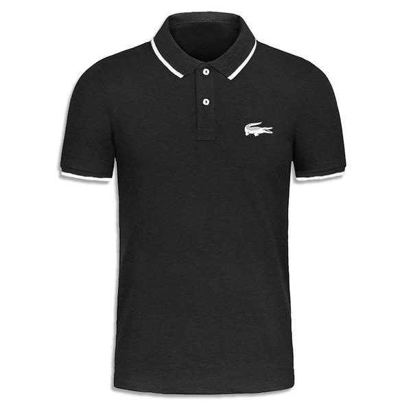 New arrival Pure color Polo Shirt Men crocodile Short Sleeve Summer Casual Camisas Polo t shirt Mens Free Ship