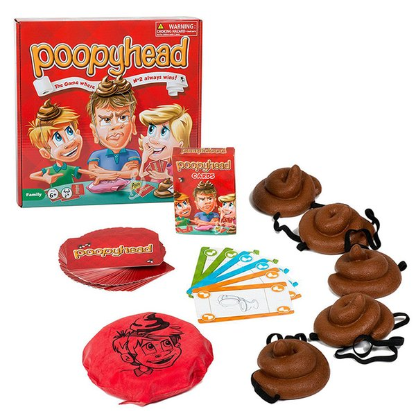 Poopyhead Puzzle Board Game for Family/Party/Friends Where Number 2 Always Best Gift for Children English Version