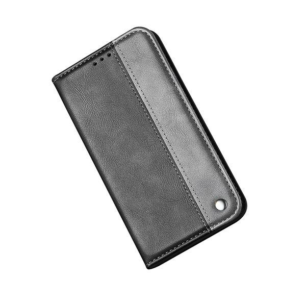 Para Iphone XS MAX XR X XS 8 Plus 7 6 SE 5 5S Suck Funda de cuero con tapa Cierre de tapa Cubierta magnética Ranura para tarjeta de identificación Híbrido bicolor Titular Monedero