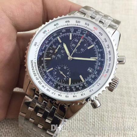 4 Styles Watches Men 1884 Blue Dial Watch Old 86610 Quartz Chronograph Watch Men'S Dress Wrist Watches On Sale FU183