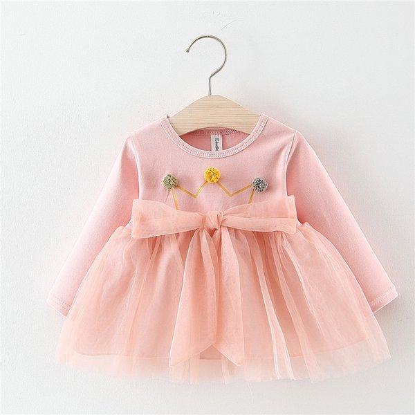 Compre 2018 Nuevo Vestido De Bebé Vestido Infantil 0 A 3 Años De Edad Niñas Bebés Ropa De Primavera Ala De Princesa Amarga Fleabane Velo Dulce A