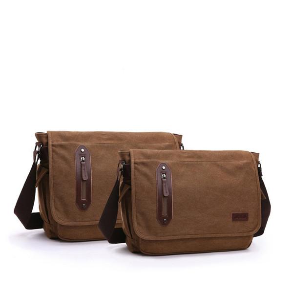 Hot 2019 Classic Retro Men Messenger Bags Military Canvas Handbags Travel Bag Shoulder Crossbody Bags For Male Bolsas An713